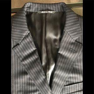 Canali Jacket Italian Blazer Wool Italy Pinstripe